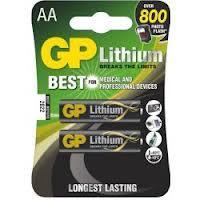 Baterie lithiová GP FR6 AA 1,5V, blistr 2ks