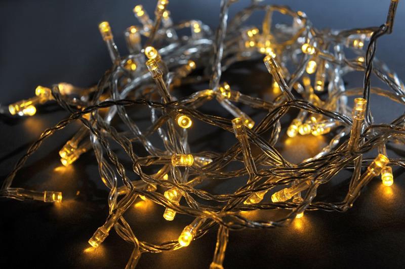Vánoční řetěz LED - 20 LED,barva teplá bílá
