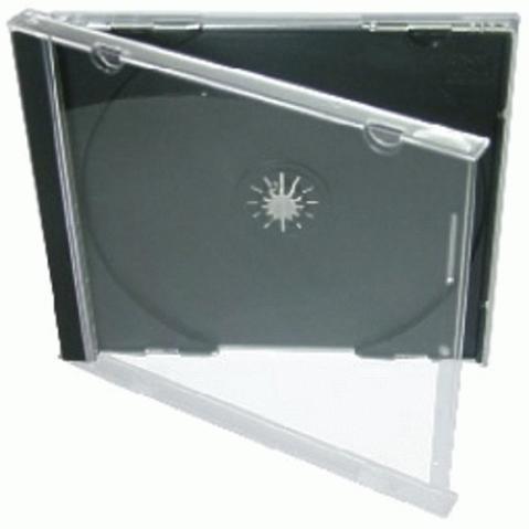 Obal na 1 CD,černo-čiré provedení