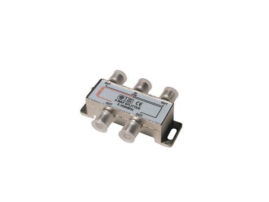 Rozbočovač 4xF 4x7,0dB / 500MHz ret.>20dB 1xDC