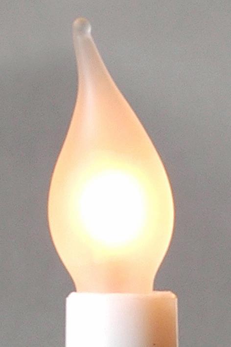 Žárovka matná tažená 34V/3W pro 7-mi ramenný svícen