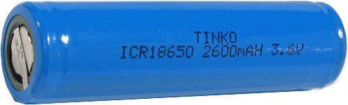 Nabíjecí článek Li-Ion ICR18650 3,6V/2600mAh TINKO