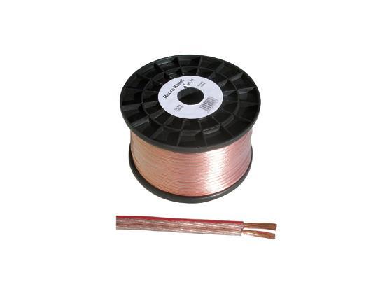 Repro kabel 2x1 mm průhledná dvojlinka