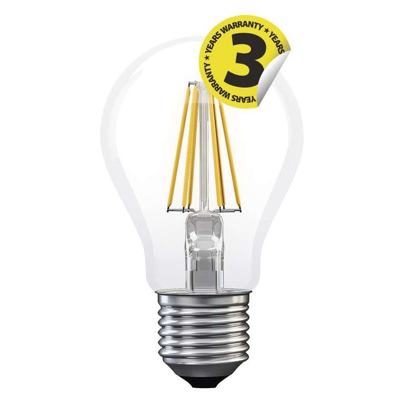 LED žárovka Filament A60 8W E27 teplá bílá
