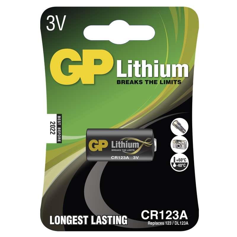 Baterie GP CR123A 3V lithiová