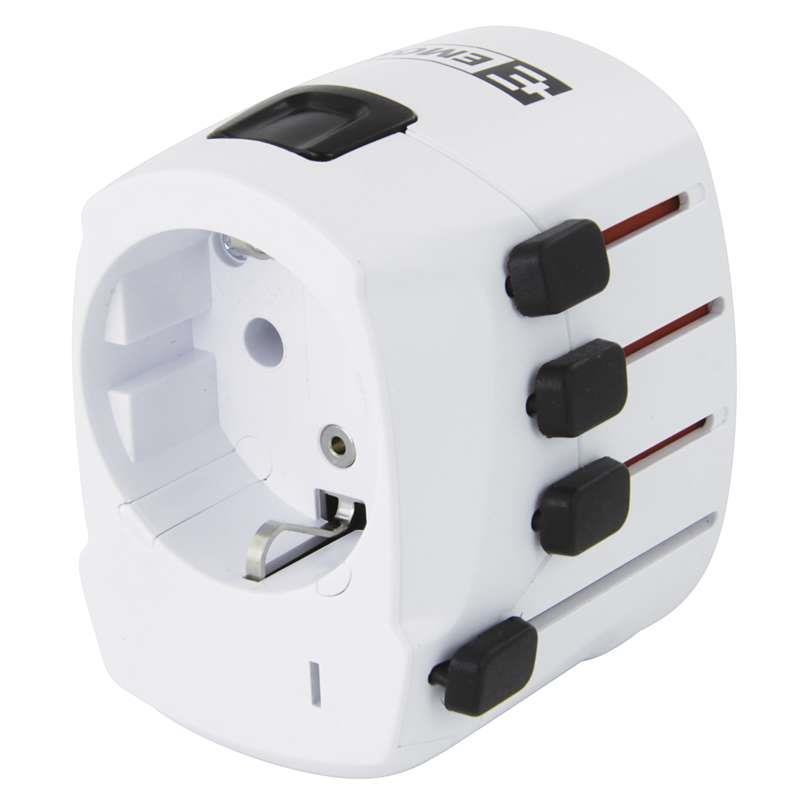 Cestovní adaptér bílý (pro Evropany v zahraničí)