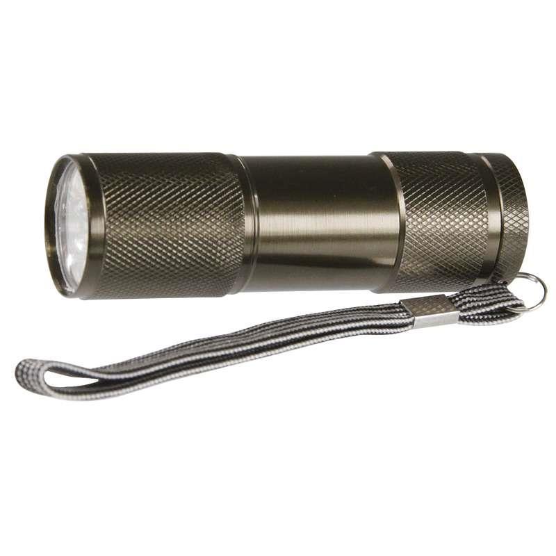 LED svítilna kovová - 9 LED diod na 3xAAA