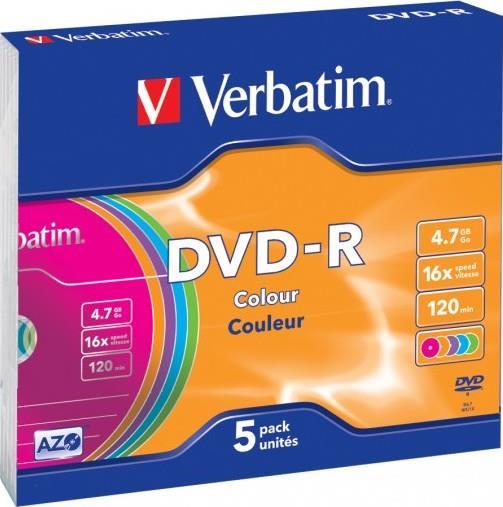 Verbatim DVD-R 4,7GB 16x slim 5ks
