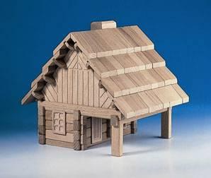 dětská dřevěná stavebnice Lovecký srub