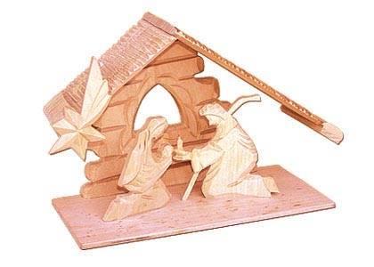 vánoční dřevěný betlém č. 30084