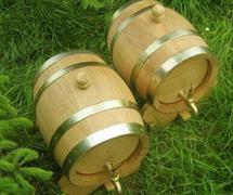 dubový soudek na alkohol 10 litrový