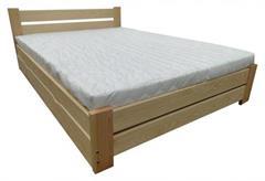 dřevěná postel s úložným prostorem Florencja chalup