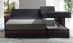 moderní rohová sedací souprava Euforia duo gib růžová