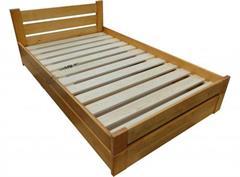 dřevěná dvojlůžková postel s úložným prostorem Gracja chalup