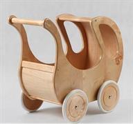 dětská dřevěná hračka dřevěný kočárek pro panenky s okénkem elm