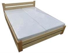 dřevěná dvojlůžková postel s úložným prostorem Harmonia160 chalup skladem