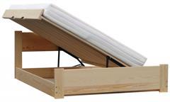dřevěná dvojlůžková manželská postel s úložným prostorem Atena chalup