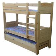 dřevěná patrová postel z masivu, palanda Strong chalup