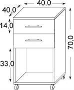 kontejner kancelářský 2S+W vanma