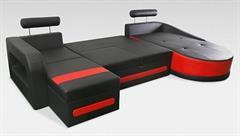 luxusní moderní rohová sedací rozkládací souprava do U Velvet U chojm