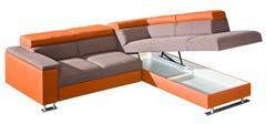 luxusní moderní rohová sedací rozkládací souprava Boston 1 dolm