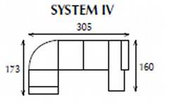 systemová variabilní moderní rohová sedací souprava Caro 4 jarex