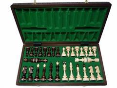 dřevěné šachy umělecké Indické 119 mad