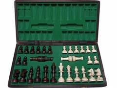 dřevěné šachy turistické Olympijské malé se vložkou 122A mad