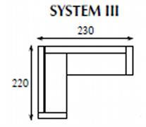 systemová variabilní moderní rohová sedací souprava Tom 3 jarex