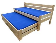 dřevěná rozkládací dvojí postel z masivu Kaskada chal
