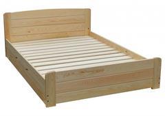 dřevěná jednolůžková postel s úložným prostorem Wersal chalup