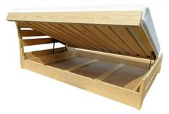 dřevěná dvojlůžková manželská postel s úložným prostorem Eldorado chalup