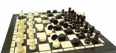 dřevěné šachy plus dáma malé 165A mad
