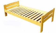 dřevěná dvojlůžková postel z masivního dřeva Martin chalup