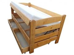 dřevěná dvojlůžková manželská postel s úložným prostorem Arena chalup