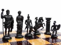 dřevěné šachy umělecké SPARTAN 139 mad
