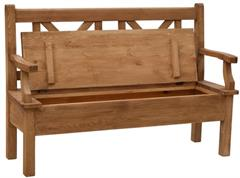 dřevěná rustikální stylová jídelní lavice z masivního dřeva borovice Mexicana D25lav euromeb