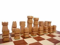 dřevěné šachy vyřezávané ORAWA 116 mad