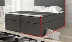 čalouněná dvojí lůžková postel Divalo eltapmeb