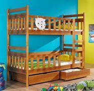 dřevěná patrová postel z masivního dřeva borovice Monika meblano