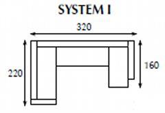 systemová variabilní moderní rohová sedací souprava Tom 1 jarex