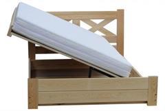 dřevěná dvojlůžková manželská postel s úložným prostorem Imperia chalup