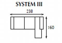 systemová variabilní moderní rohová sedací souprava Caro 3 jarex