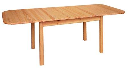 dřevěný jídelní stůl rozkládací z masivního dřeva borovice drewfilip 1