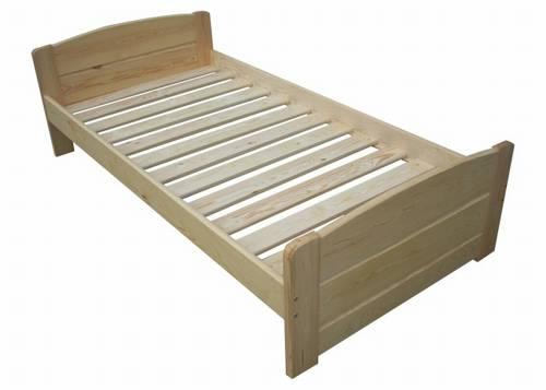 dřevěná jednolůžková postel z masivního dřeva Baltic chalup
