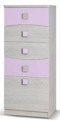 moderní komoda z kolekce Tenus TK5SZ fialová gib