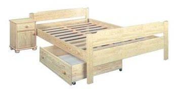 dřevěná jednolůžková postel z masivního dřeva Lens chalup