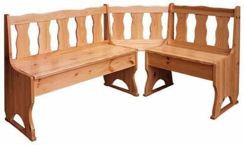 dřevěná rohová jídelní lavice z masivního dřeva borovice drewfilip 1