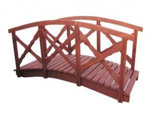 dřevěná zahradní dekorace můstek, lavka 100 cm drewfilip 25