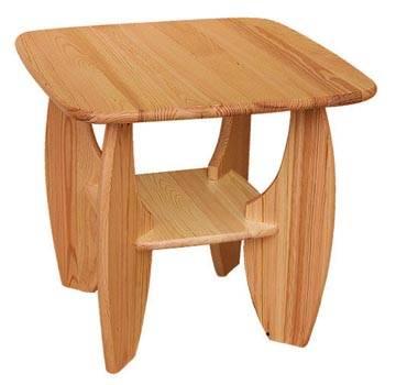 dřevěný konferenční stolek z masivního dřeva borovice drewfilip Saporo 24